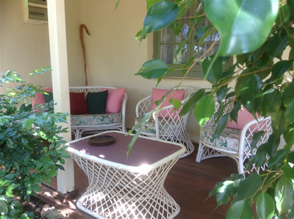 Relax on the front verandah