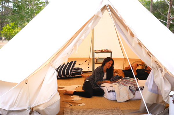 Glamping season from September until May - Deluxe camping in nature.