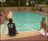 Enjoy a swim in our salt water pool
