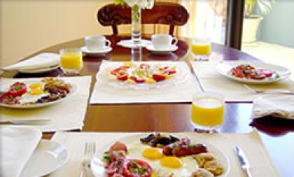 Delicious, fresh breakfast