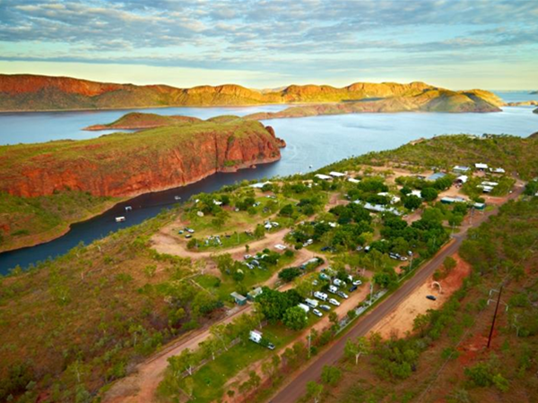 Aerial view of Lake Argyle Resort