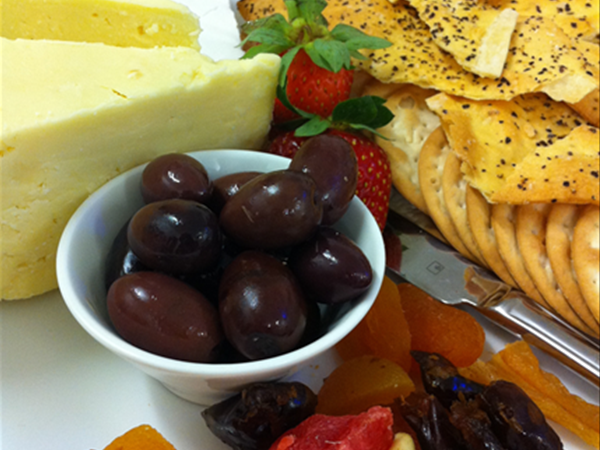 Cheese platter available to order