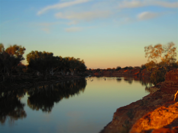 Murchison River on Wooleen Station