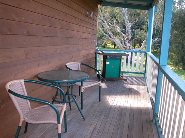 Enjoy a glass of wine on the verandah