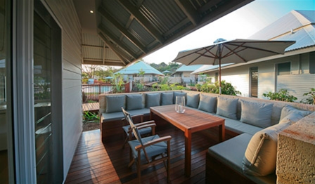All villas and tents have private outdoor entertaining areas with built in lounges and outdoor BBQs