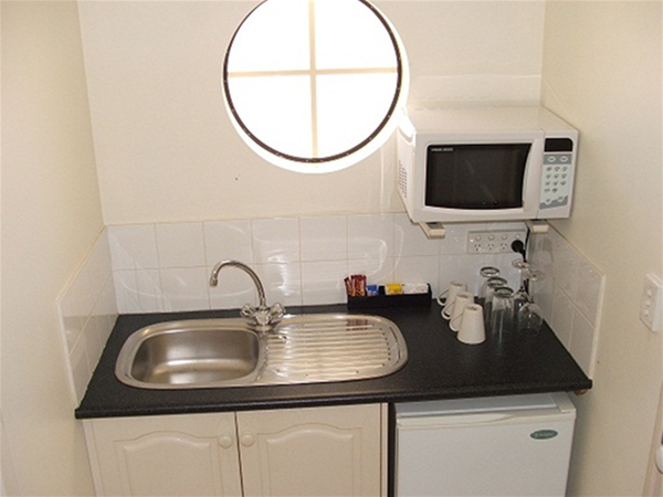 Motel kitchenette