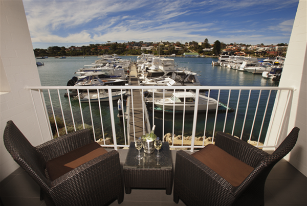 Private Balcony overlooking Marina