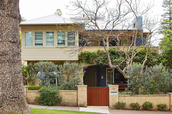 Heart of Cottesloe House. This John Street, Cottesloe house is designed to simply
