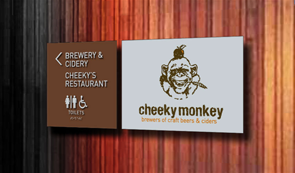 Signage Design - Cheeky Monkey Brewery / Killerby Cellar Store - Margaret River