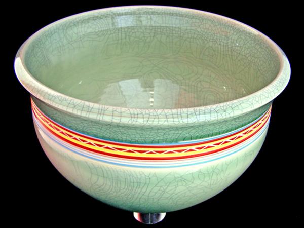 Stoneware Celadon Basin