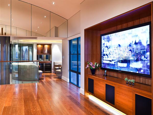 Home entertainment unit by Fogliani Interiors.