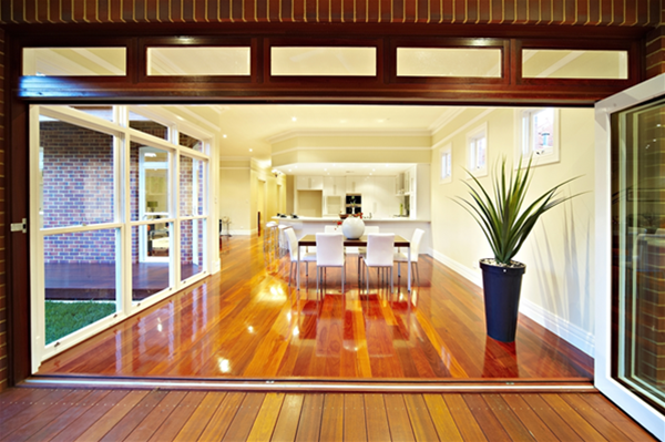Seamless flow from the outdoors to the indoors