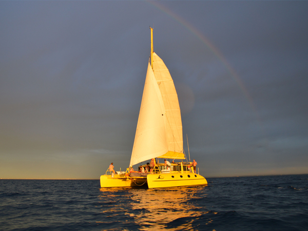 Twilight sail sunset champagne cruise Fremantle Perth Charter 1