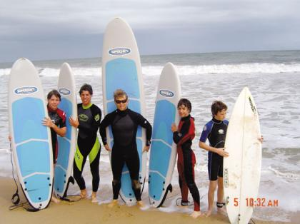 Surfers in Bunbury