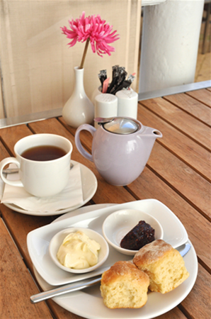 Enjoy light refreshments in a tranquil courtyard including Devonshire Tea