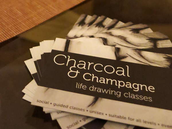Charcoal and Champagne life-drawing classes