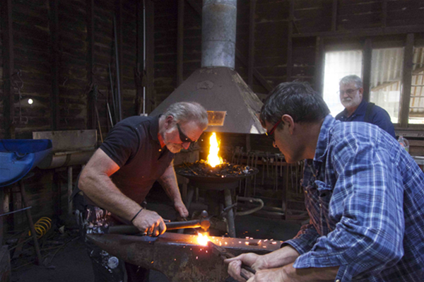Blacksmithing with Carl