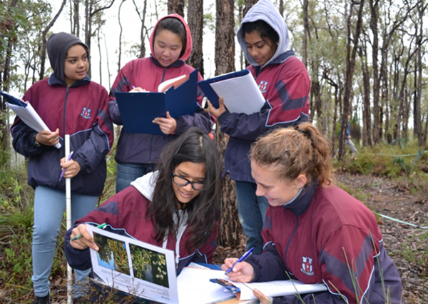 High School students participating in a Nearer to Nature Course.