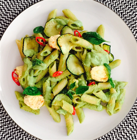 Major & Morsel Food Co zucchini pesto w. ricotta dumpling pasta