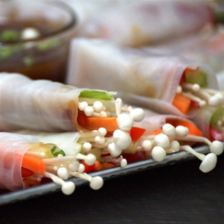 Vegetarian Rice Paper Roll Canape Selection