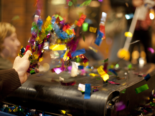 Confetti International by Rebecca Baumann. Photo by Alex Davies.