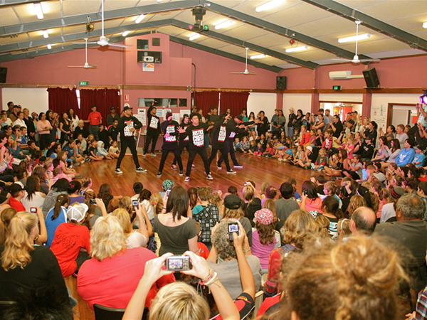 Justice Crew dance workshops and performance. Photo Linda Sewell.