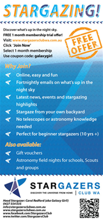 Free trial offer - try out Stargazers Club today