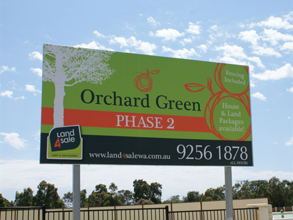 Orchard Green Estate sign - Sold by Land4Sale