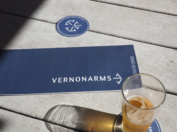 Vernon Arms in-tavern dining - open daily 11 til late