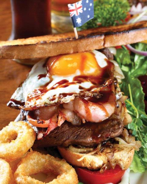 The Big Mallee Bull Burger