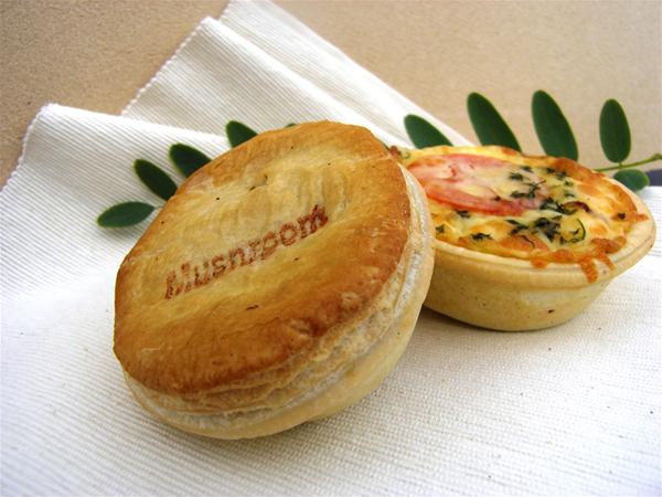 Mushroom Pie and Big Breakfast Pie