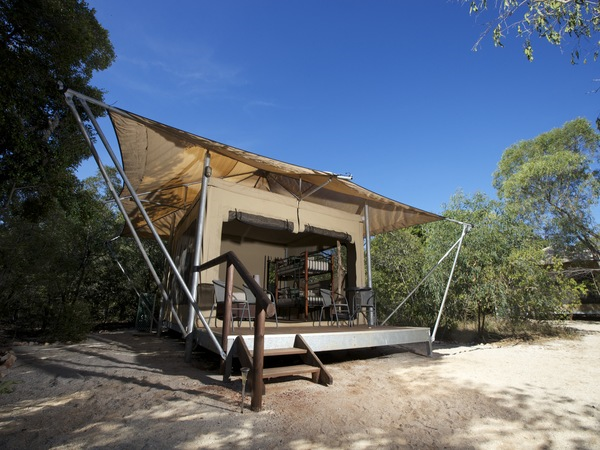 Safari Tent accommodation at Cygnet Bay