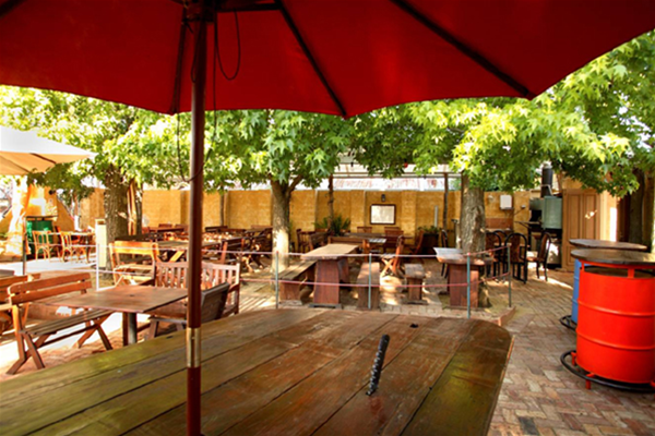 Our relaxed beer garden setting
