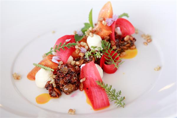 Organic carrots, quinoa, smoked yoghurt
