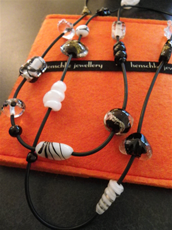 Flameworked artist beads by Evelyn Henschke