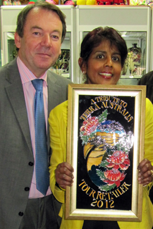 Mr Eric Knowles of the BBC Antique Road Show with Malar Fraser