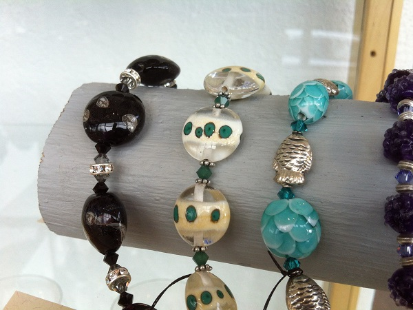 Handmade glass beads by Jane Wall
