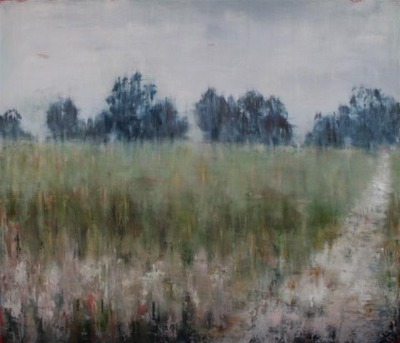 Rosa Brook Farmland, Oil on Canvas, 91 x 107 cm