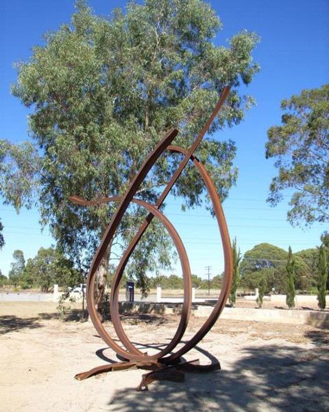 Steel sculpture by Jean-Pierre Rives - France