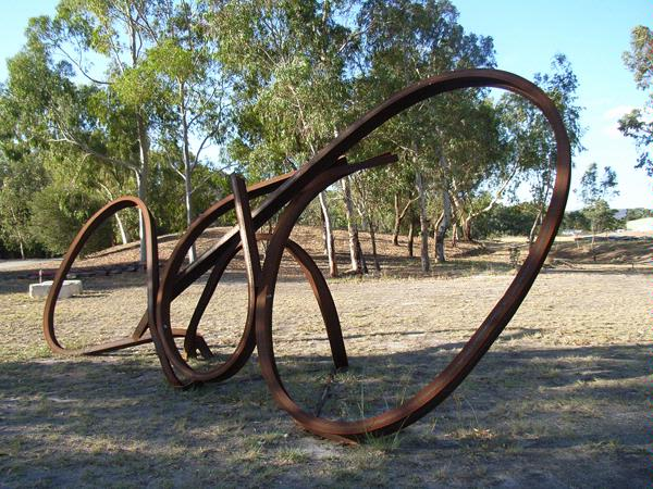 Steel sculpture by Jean-Pierre Rives  -  France