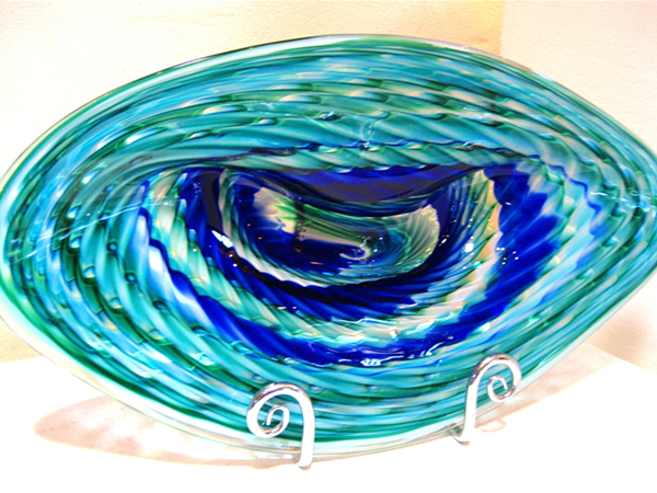 Tidepool Platter...hot glass sculpture by Gerry Reilly