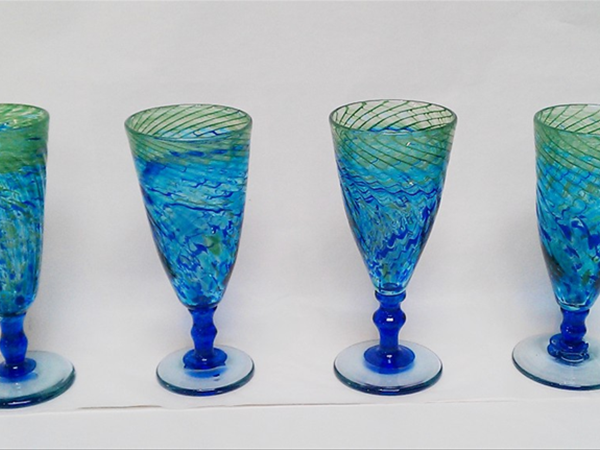 Ocean Series goblets by Gerry Reilly