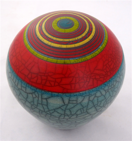 Raku Earth Sphere