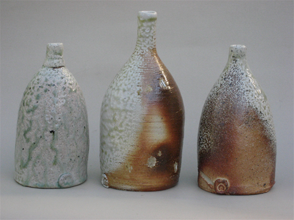 Wood/soda fired bottles