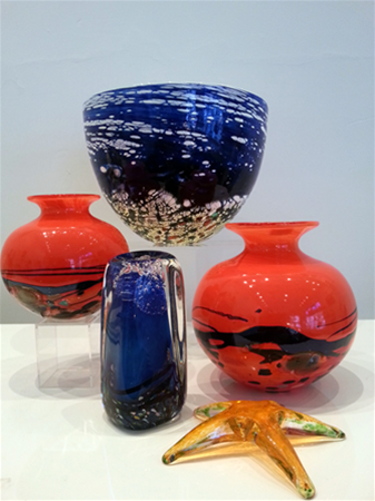 Art glass created by Peter Reynolds
