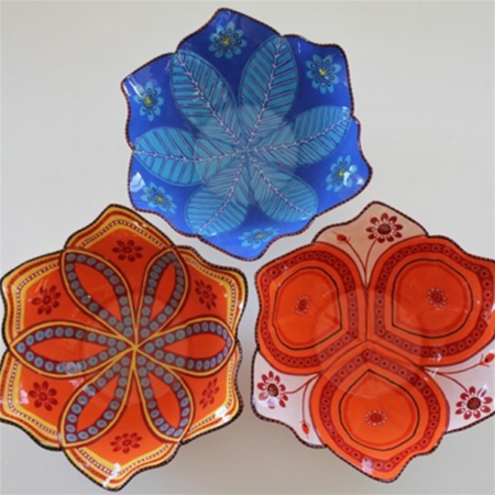 Handmade Ceramic Flower Salad Bowls