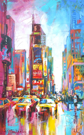 Times Square New York, Acrylic on Canvas, 76cmx120cm