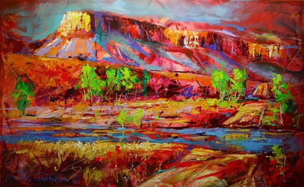 "Pentecost River, Acrylic on Canvas, 30""x48"" (76cmx152cm)"