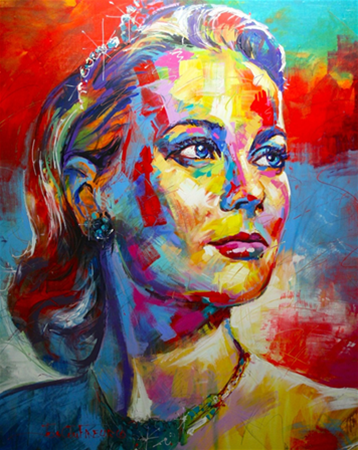 "Grace Kelly, Acrylic on Canvas, 48""x60"" (1.2mx1.5m)"