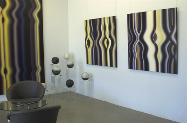 Entry room display, featuring artworks by Marion Borgelt